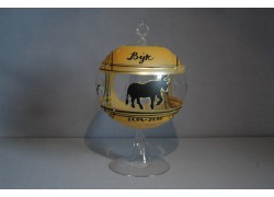 Balls on a candle 12cm, with a stand, zodiac sign Taurus www.sklenenevyrobky.cz