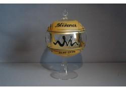 Balls on a candle 12cm, with a stand, zodiac sign Gemini www.sklenenevyrobky.cz