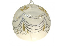 Christmas ball for candle 15cm www.sklenenevyrobky.cz
