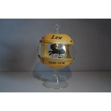 Koule na svíčku ZODIAC 12cm +stojan LEV