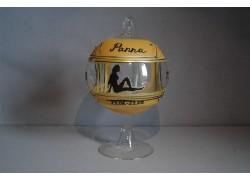 Ball on a candle, 12cm, with a stand, zodiac sign Virgo www.sklenenevyrobky.cz