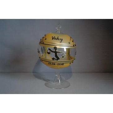 Koule na svíčku ZODIAC 12cm +stojan VÁHY