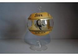 Balls on candle, 12cm, with stand, zodiac sign Scorpio www.sklenenevyrobky.cz