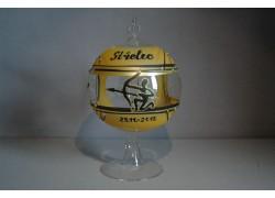 Balls on a candle, 12cm, with a stand, zodiac sign Sagittarius www.sklenenevyrobky.cz