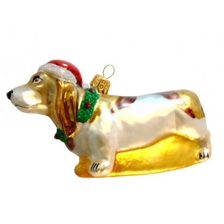 Vánoční ozdoba pes Baset 229