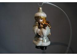 Vánoční ozdoba Anděl 916 bílý 13x7x7 cm