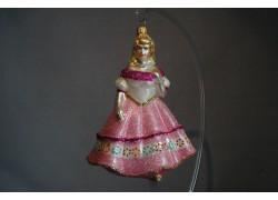 Vánoční ozdoba Princezna 433 13x10x8 cm