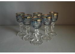 Glasses of Mariana on aperitif - 6pcs, blue www.sklenenevyrobky.cz