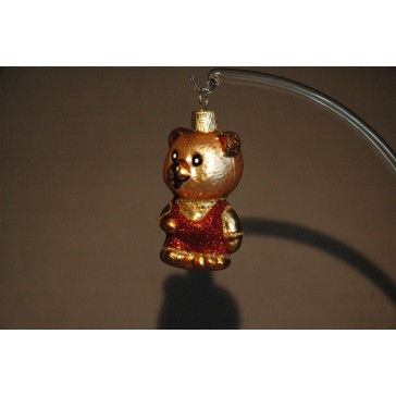Vánoční ozdoba Medvídek červený