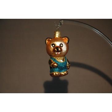 Vánoční ozdoba Medvídek modrý