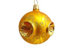 Vánoční koulička 60mm zlatá píchaná 2049