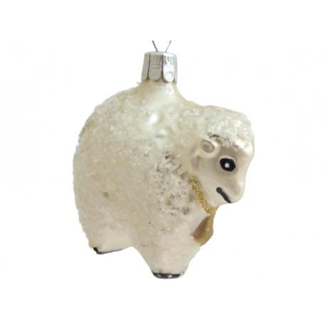Vánoční ozdoba ovce F415 www.sklenenevyrobky.cz