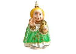 Vánoční ozdoba Pražské Jezulátko F467 zelené
