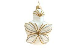 Christmas ornament flacon into a butterfly shape