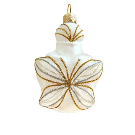 Vánoční ozdoba2217 I Lahvička-Motýl 10x7.5x3.5 cm