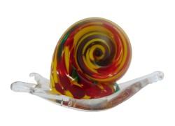 Snail, paperweight, decoration 7cmx5cmx2,5cm www.sklenenevyrobky.cz