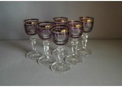 Glasses of Mariana on aperitif - 6pcs, purple www.sklenenevyrobky.cz