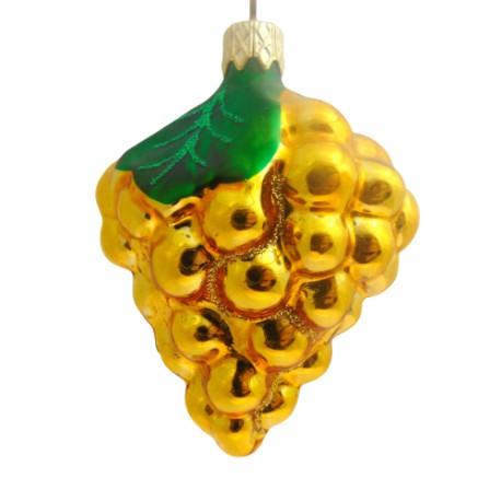 Christmas ornament, Grapes www.sklenenevyrobky.cz