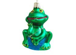Vánoční ozdoba žába v modrých plavkách 270