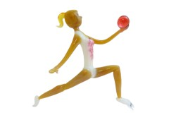 Gymnastka s míčem 8x12,5 cm