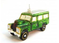 Vánoční ozdoba auto Land Rover www.sklenenevyrobky.cz