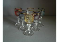Glasses of Mariana on Aperitif - 6pcs, six colors www.sklenenevyrobky.cz