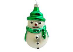 Christmas ornament, Snowman www.sklenenevyrobky.cz