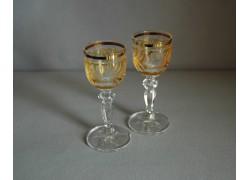 Glasses of Mariana on aperitif - 2pcs, yellow www.sklenenevyrobky.cz