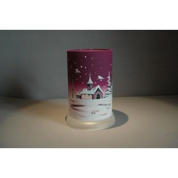 Svícen válec fialový vysoký 17 cm průměr 10 cm