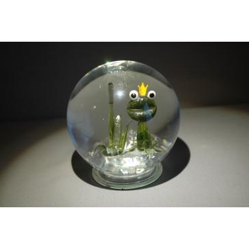 Sněící koule žába 10 cm