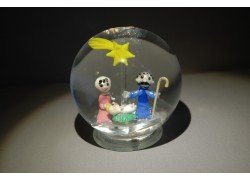 Snow globe 10cm with Christmas nativity scene
