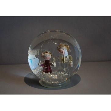 Sněžící koule Andělé 10 cm