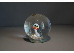 Sněžící koule Kočka modro-bílá 80mm