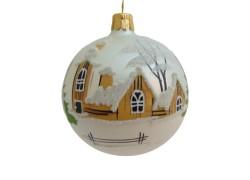 Christmas ball 8cm www.sklenenevyrobky.cz