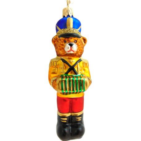 Vánoční ozdoba medvěd s harmonikou F147