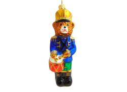 Vánoční ozdoba medvěd s bubnem F148