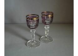 Glasses of Mariana on aperitif - 2pcs, purple www.sklenenevyrobky.cz