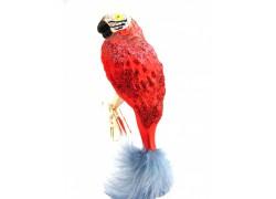 weihnachtsschmuck, papagei www.sklenenevyrobky.cz