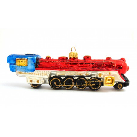 Vánoční ozdoba lokomotiva Western