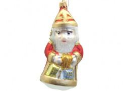 Weihnachtsschmuck St.Nicolas Geschenken F71 rot www.sklenenevyrobky.cz