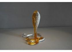 Kobra VI z hutního skla 12x9x12 cm