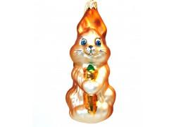 Christmas glass ornament Bunny www.sklenenevyrobky.cz