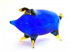 Piggy made of blown glass