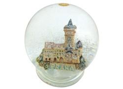 Snow globe with Prague Old town hall www.sklenenevyrobky.cz