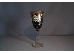 Angela víno 250 ml 1 ks smaltovaná a zlacená kobaltová modř