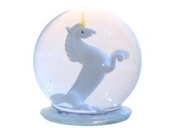 Snow globe with the Unicorn www.sklenenevyrobky.cz