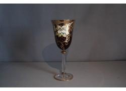 Angela víno 250 ml 1 ks smaltovaná a zlacená rubínová červeň