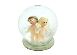 Snow globe Gemini www.sklenenevyrobky.cz