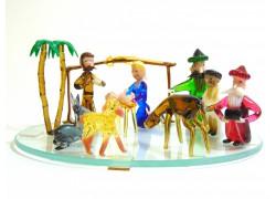 Christmas glass nativity scene
