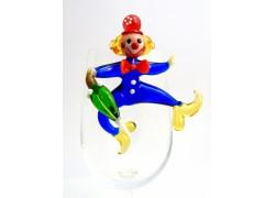Clown hanging on a glass www.sklenenevyrobky.cz